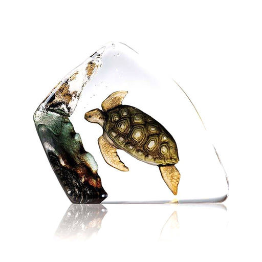 Maleras Wildlife Sea Turtle Crystal Sculpture - Green - 33943