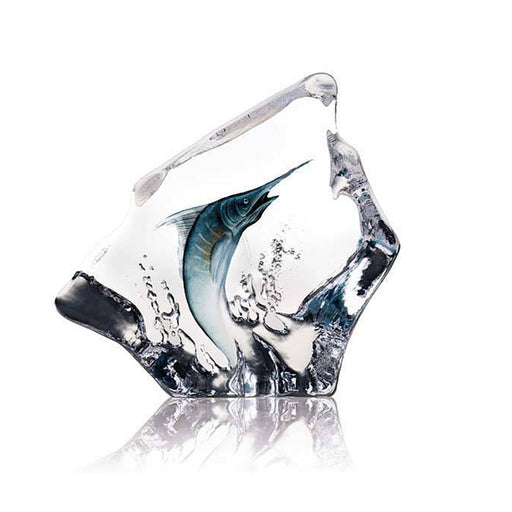 Maleras Wildlife Blue Marlin Crystal Sculpture - Blue - 33954