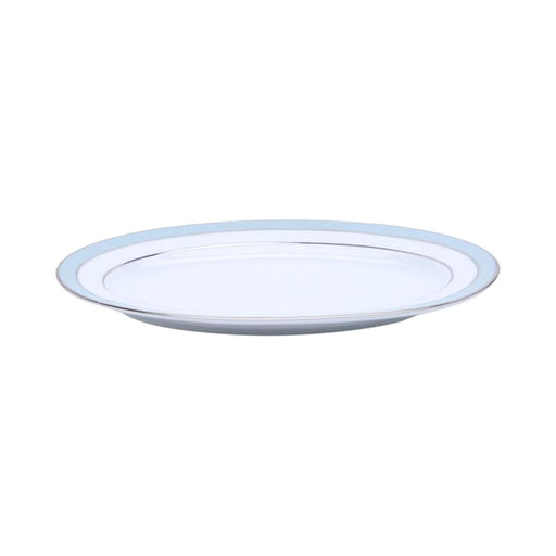 Dankotuwa Bella Platter - White and Blue, 9 Inch - BELLAB-0546