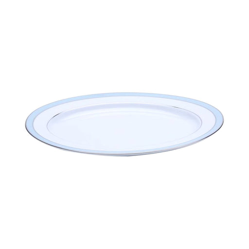 Dankotuwa Bella Platter - White and Blue, 12 Inch - BELLAB-0545
