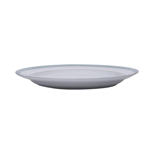 Dankotuwa Bella Platter - White and Blue, 14 Inch - BELLAB-0544