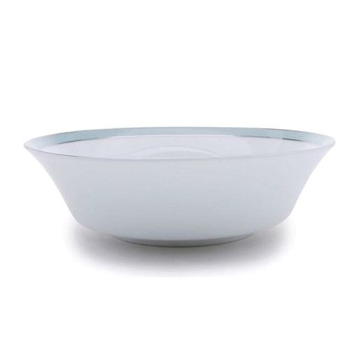 Dankotuwa Bella Salad Bowl - White and Blue, Large - BELLAB-0509