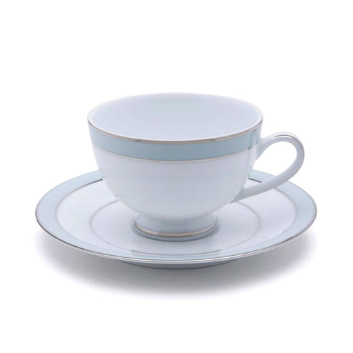 Dankotuwa Bella Tea Cup and Saucer - White and Blue - BELLAB-89/87