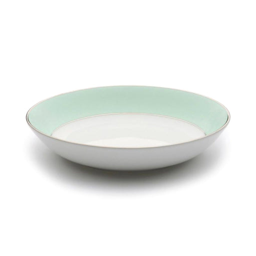 Dankotuwa Meldy Cereal Bowl - White and Green, 360 g - MELDYG-0507