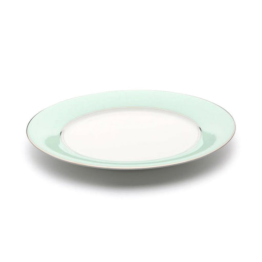 Dankotuwa Meldy Dinner Plate - White and Green, 690 g - MELDYG-0520