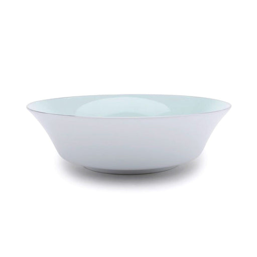 Dankotuwa Meldy Green Large Salad Bowl - White and Green - MELDYG-0509