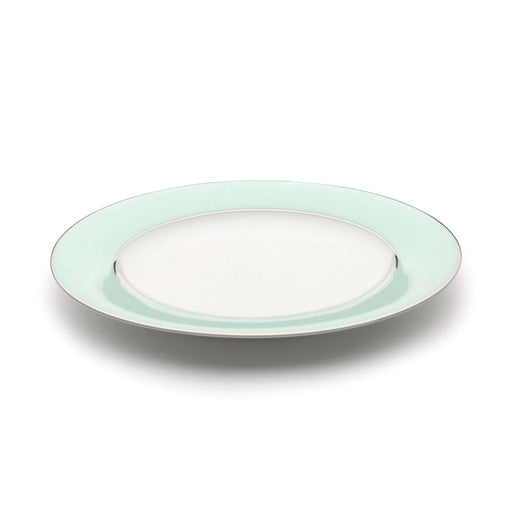Dankotuwa Meldy Green Salad Plate - White and Green - MELDYG-0511