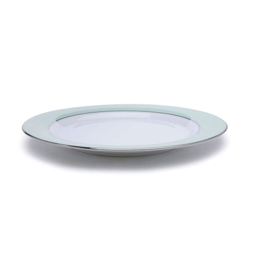 Dankotuwa Meldy Green Meat Plate - White and Green - MELDYG-0515