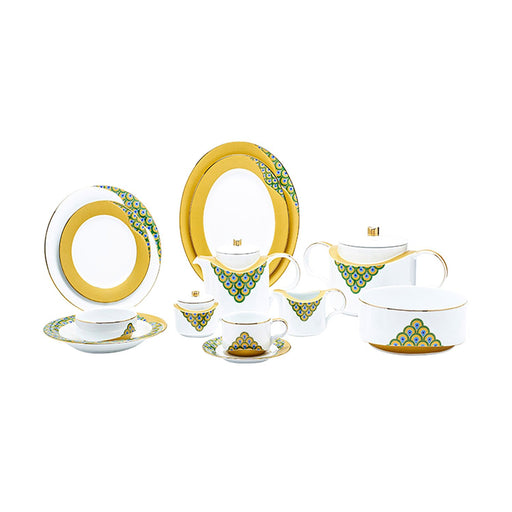 Dankotuwa Helga Peacock 95 Piece Dinner Set - HPEACOCK-DS/95