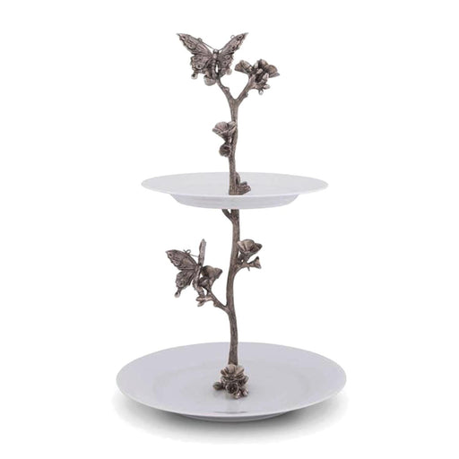 Vagabond House Butterfly Dessert Tiered Stand - G328BF