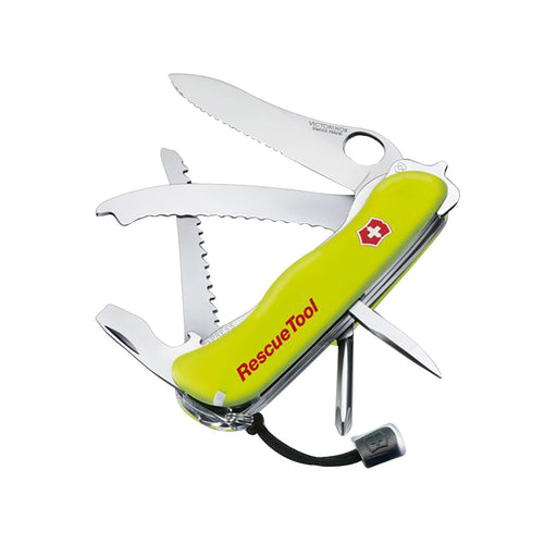 Victorinox Swiss Army Rescue Tool Large Pocket Knives - Phosphorescent Yellow - 0.8623.MWN
