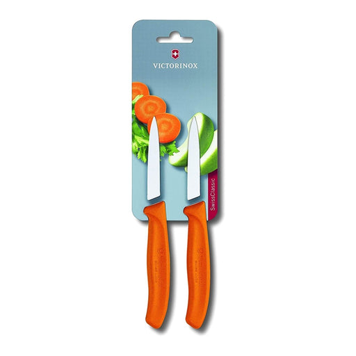 Victorinox 2 Piece Paring Knife Set - Orange - 6.7606.L119B