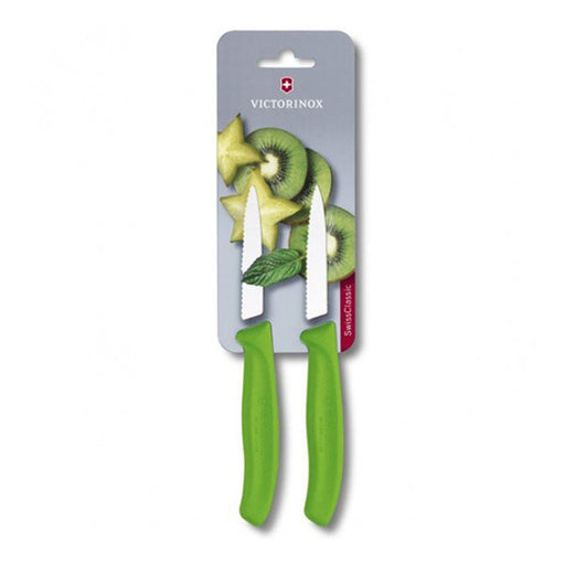 Victorinox 2 Piece Paring Knife Set - Green - 6.7636.L114B