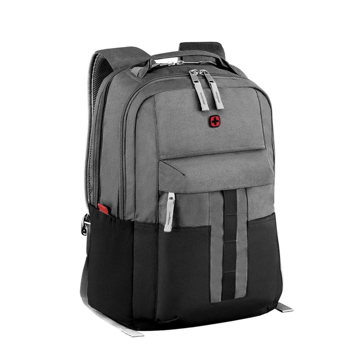 Wenger Source Laptop Backpack - Black and Grey - 604430