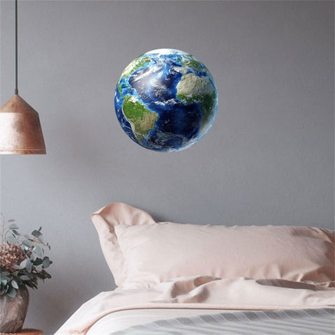 30cm 3D Planeet Aarde Glow in the Dark Muursticker
