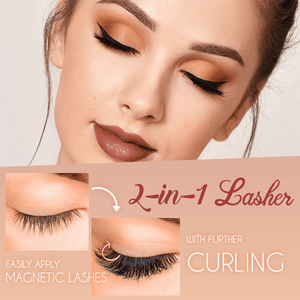 2 in 1 Magnetic Lashes Clip & Eyelashes Set