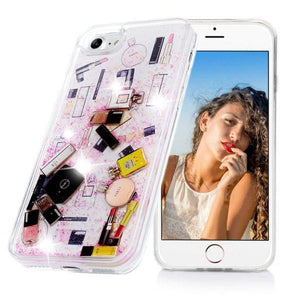 Makeup cosmetic quicksand case - glamorya