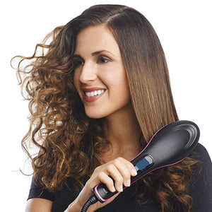 Ceramic Hair Straightener Brush for $26.95
