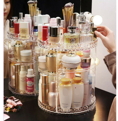 High Quality 360° Rotating Crystal Cosmetic Storage for $34.95