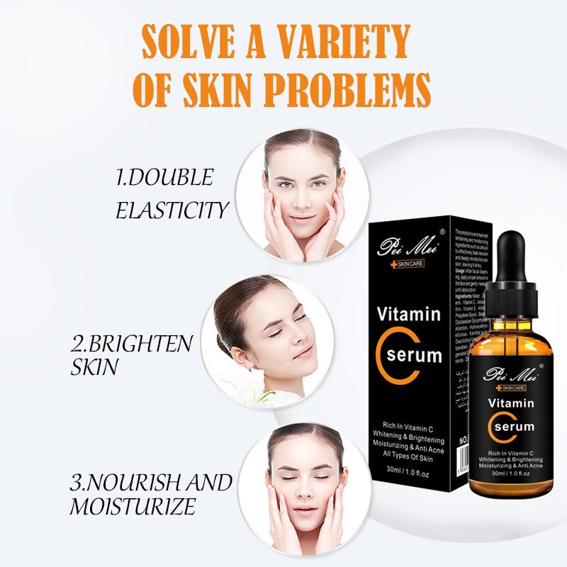 Mabox Vitamin C Acne Clarifying Serum with Hyaluronic Acid and Vitamin E for $19.95