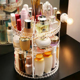 High Quality 360° Rotating Crystal Cosmetic Storage - glamorya