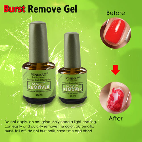Magic Soak Off Gel Polish Remover - glamorya