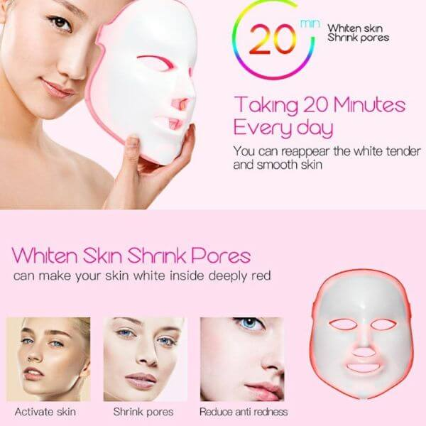 7 Color LED Face Mask Photon - glamorya