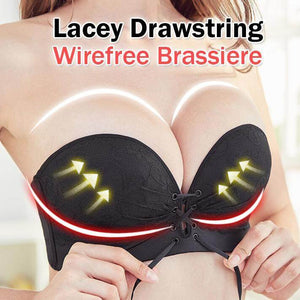 LACEY DRAWSTRING WIREFREE BRASSIERE for $24.95