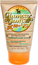 Load image into Gallery viewer, Glamour Camper SPF 50+ All Natural Sunscreen with All Natural Bug Deterrent & Glitter