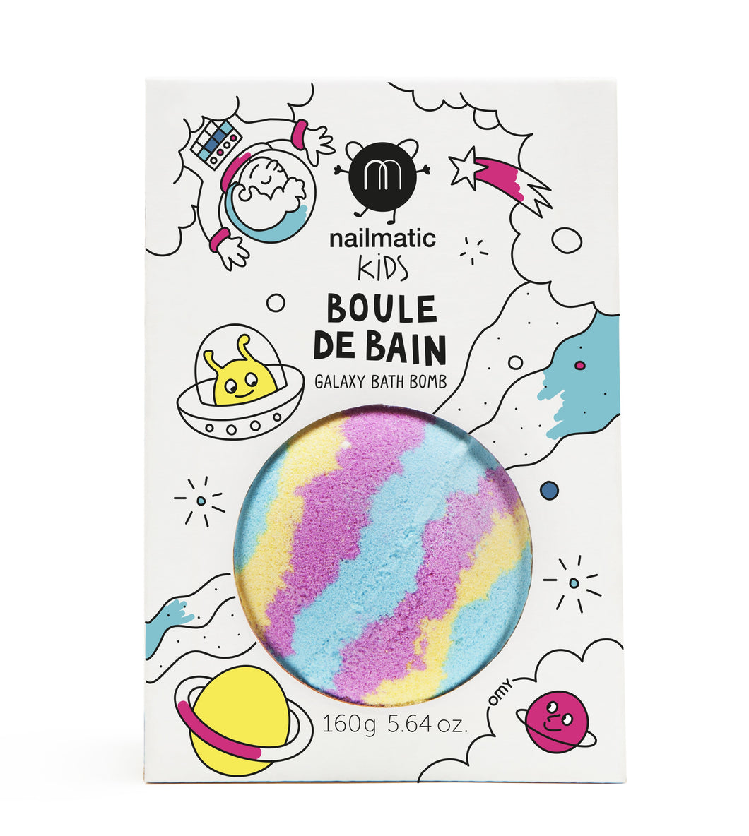 Colouring and soothing bath bomb for kids - Galaxy