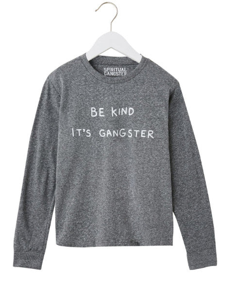 Boys long sleeve Be Kind Gangster tee