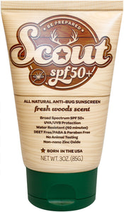 Scout SPF 50+ All natural sunscreen with all natural bug repellent