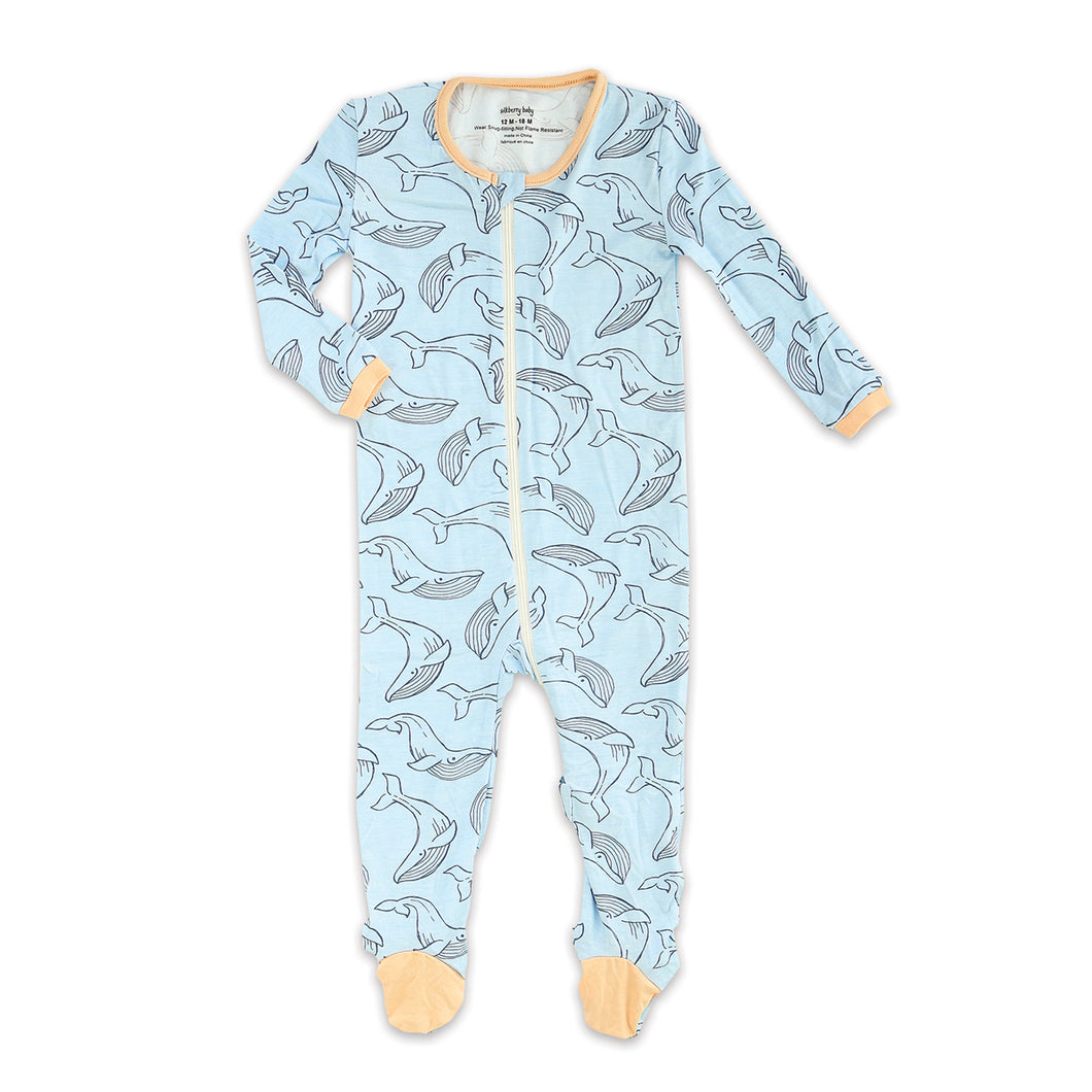 Bamboo Footies With Easy Dressing Zipper