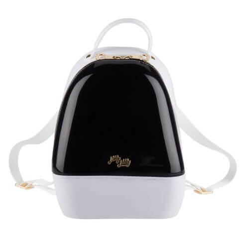 Black White Annabelle Jelly Backpack