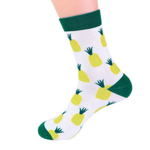 Fruity Pineapple Design Socks