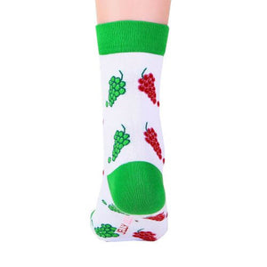 Green Red Grapes fruity Socks