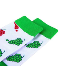 Load image into Gallery viewer, Green Red Grapes fruity Socks