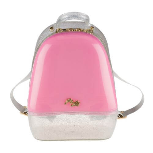 Pink Silver Annabelle Jelly Backpack