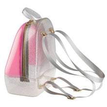 Load image into Gallery viewer, Pink Silver Annabelle Jelly Backpack