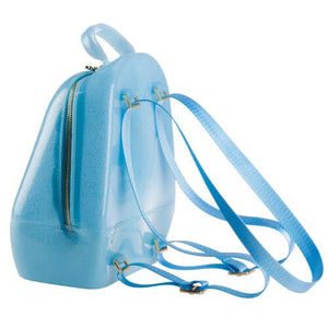 Sparkled Blue Annabelle Jelly Backpack