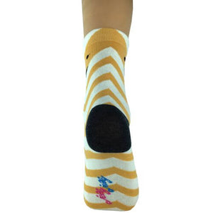 White Gold Stripes Mr Fox Socks