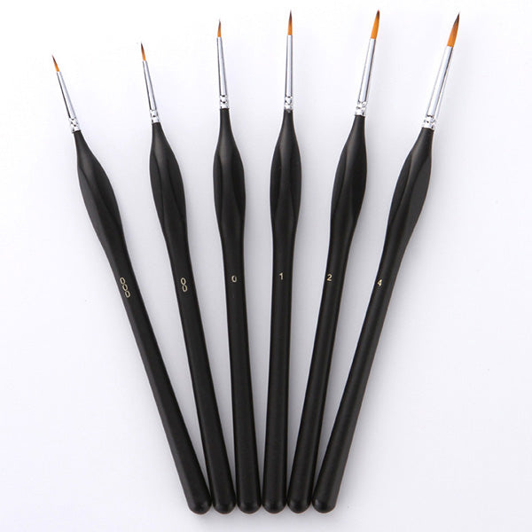 6 Piece Premium Detailed Brush Set