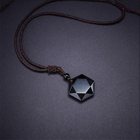 BlackObsidian™ Crystal Black Stone Necklace