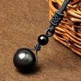 BlackObsidian™ Natural Stone Pendant Necklace