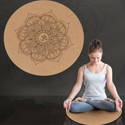 Round Yoga cushion