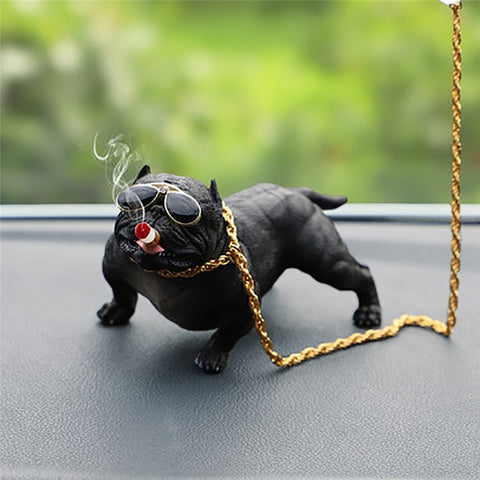 Bull Dog Car Doll