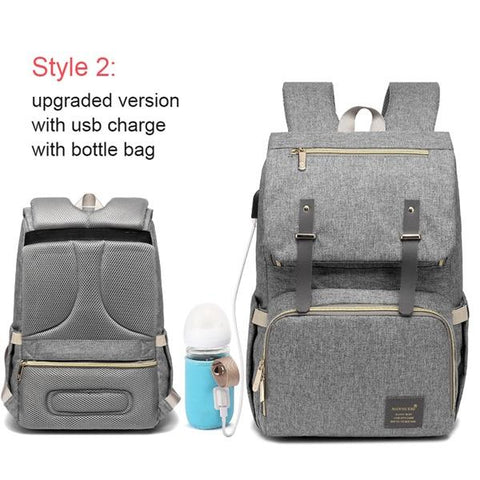 RoyaleBabies™ 2nd Gen Large Capacity USB Diaper Bag