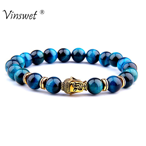 Royal Blue Beads Bracelet