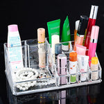 Hoomall New Clear Acrylic Makeup Storage Case Nail Polish Rack Lipstick Cosmetic Storage box Holder Makeup Brush Organizer