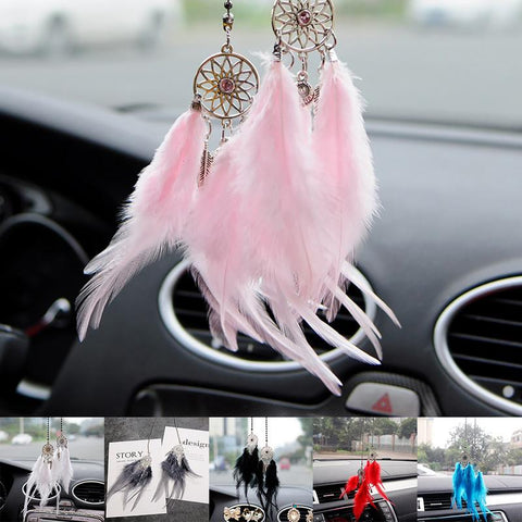 Dream Catcher Feather Car Ornament